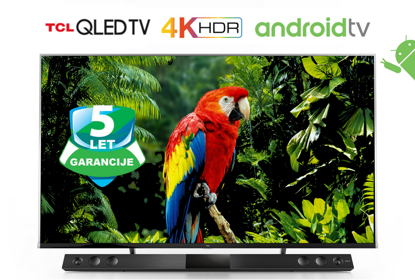 "Fotografija izdelka QLED TV TCL 65X815, 65"" (diagonala 165cm) 4K Quantum Dot, Android, Smart WiFi, HDR Premium, Ultra Micro Dimming, 10bit, Onkyo, Voice Search"