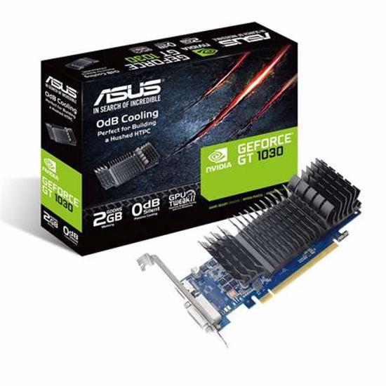 Fotografija izdelka ASUS GeForce GT 1030 2GB GDDR5 silent low profile (GT1030-SL-2G-BRK) grafična kartica