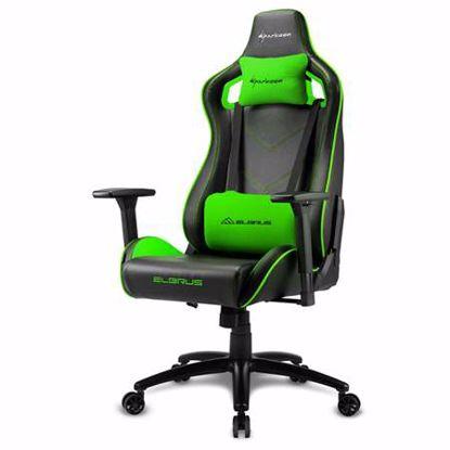 Fotografija izdelka SHARKOON ELBRUS 2 črna/zelena gaming stol