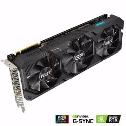 Fotografija izdelka PALIT GeForce RTX 2080 SUPER GamingPro OC 8GB GDDR6 (NE6208SS19P2-180T) RGB grafična kartica