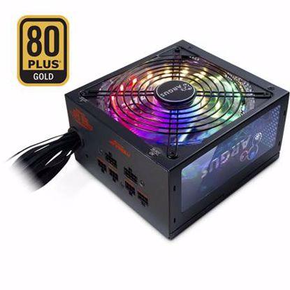 Fotografija izdelka INTER-TECH Argus RGB-750W CM II 80Plus Gold modularni RGB ATX napajalnik