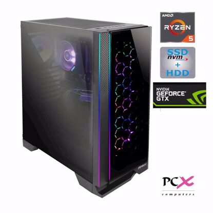 Fotografija izdelka PCX EXON EX5 R5 3600X/8GB/S250GB/2TB/GTX1660 SUPER 6GB DOS
