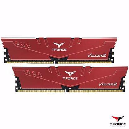 Fotografija izdelka TEAMGROUP T-Force Vulcan Z 16GB (2x8GB) 3200MHz DDR4 (TLZRD416G3200HC16CDC01) rdeč ram pomnilnik