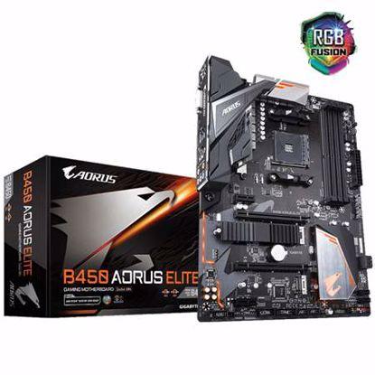 Fotografija izdelka GIGABYTE B450 AORUS ELITE AM4 ATX DDR4 RGB gaming osnovna plošča