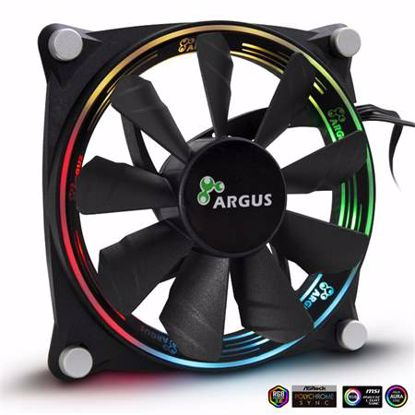 Fotografija izdelka INTER-TECH Argus VALO 1205 RGB 120mm ventilator
