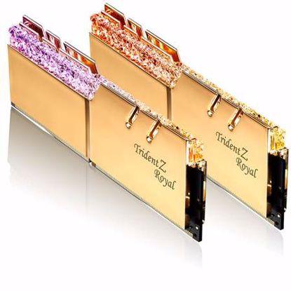 Fotografija izdelka G.SKILL Trident Z Royal RGB 16GB (2x8GB) 3200MHz DDR4 (F4-3200C16D-16GTRG) zlata barva ram pomnilnik