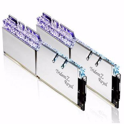 Fotografija izdelka G.SKILL Trident Z Royal RGB 16GB (2x8GB) 3600MHz DDR4 (F4-3600C18D-16GTRS) srebrna barva ram pomnilnik