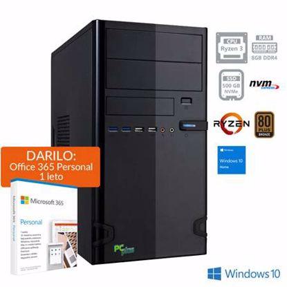 Fotografija izdelka PCPLUS i-net Ryzen 3 PRO 4350G 8GB 500GB NVMe SSD Windows 10 Home + darilo: 1 leto Office 365 Personal