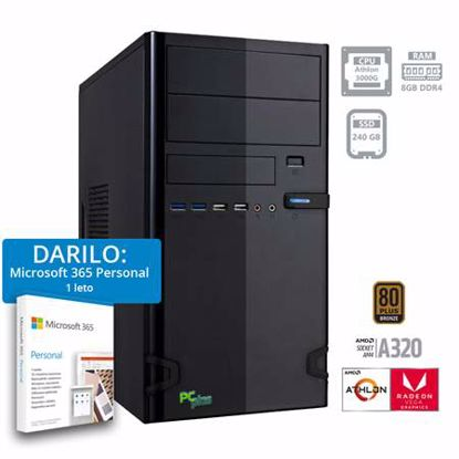 Fotografija izdelka PCPLUS i-net Athlon 3000G 8GB 240GB SSD Windows 10 Home + darilo: 1 leto Microsoft 365 Personal