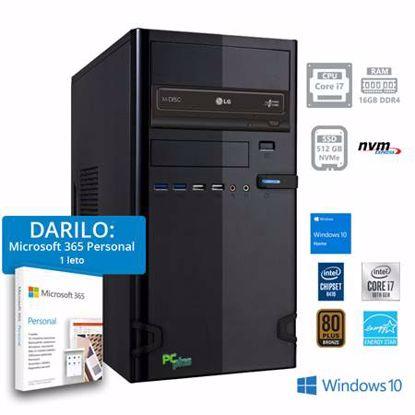 Fotografija izdelka PCPLUS e-office i7-10700 16GB 512GB NVMe SSD Windows 10 Home + darilo: 1 leto Microsoft 365 Personal