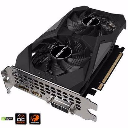 Fotografija izdelka GIGABYTE GeForce GTX 1650 D6 WINDFORCE OC 4GB GDDR6 (GV-N1656WF2OC-4GD) grafična kartica