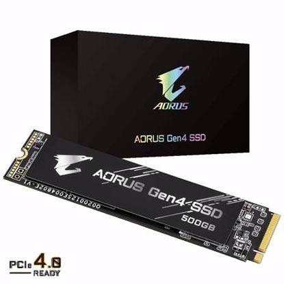 Fotografija izdelka GIGABYTE AORUS Gen4 500GB M.2 PCIe4.0 NVMe 1.3 (GP-AG4500G) SSD
