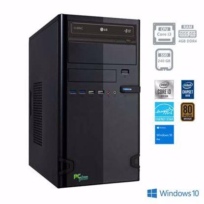 Fotografija izdelka PCPLUS e-office i3-10100 4GB 240GB SSD Windows 10 Pro