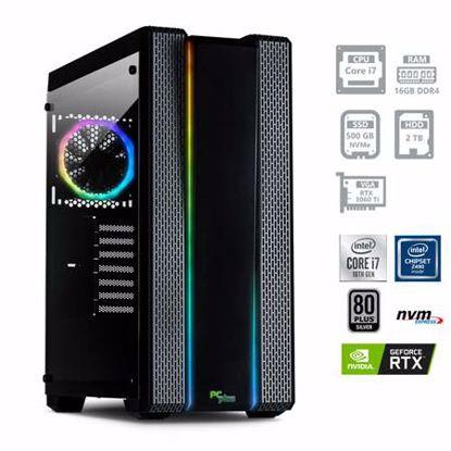 Fotografija izdelka PCPLUS Dream machine i7-10700F 16GB 500GB NVMe SSD 2TB HDD GeForce RTX 3060TI 8GB RGB DOS