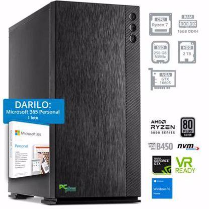 Fotografija izdelka PCPLUS Dream machine Ryzen 7 3700X 16GB 250GB NVMe SSD + 2TB HDD GTX 1660 SUPER 6GB Windows 10 Home + darilo: 1 leto Microsoft 365 Personal