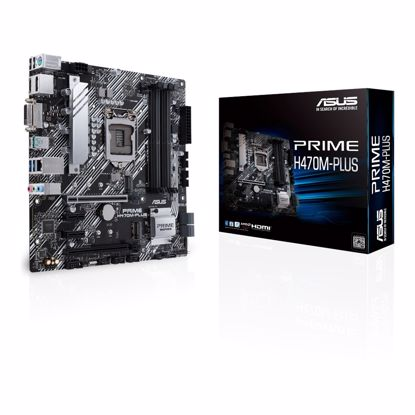 Fotografija izdelka ASUS PRIME H470M-PLUS, DDR4, SATA3, USB3.2Gen2, DP, LGA1200 mATX