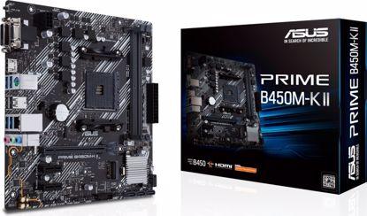 Fotografija izdelka ASUS PRIME B450M-K II, DDR4, SATA3, USB3.2Gen1, HDMI, AM4 mATX