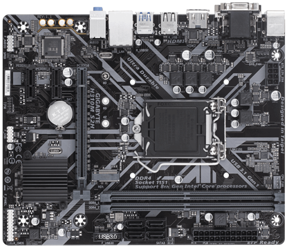 Fotografija izdelka GIGABYTE H310M S2H, DDR4, SATA3, HDMI, USB3.1Gen1, LGA1151 mATX