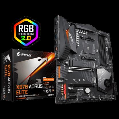Fotografija izdelka GIGABYTE X570 AORUS ELITE, DDR4, SATA3, USB3.2Gen2, AM4 ATX
