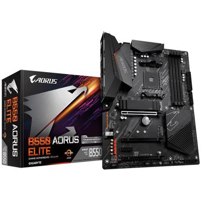 Fotografija izdelka GIGABYTE B550 AORUS ELITE, DDR4, SATA3, USB3.2Gen2, DP, AM4 ATX