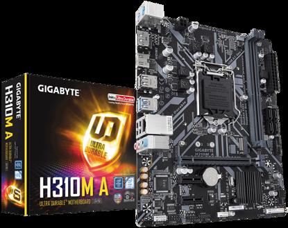 Fotografija izdelka GIGABYTE H310M A, DDR4, SATA3, DP, USB3.1Gen1, LGA1151 mATX