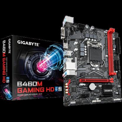 Fotografija izdelka GIGABYTE B460M GAMING HD, DDR4, SATA3, USB3.2Gen1, HDMI, LGA1200 mATX