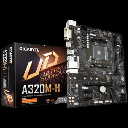 Fotografija izdelka GIGABYTE GA-A320M-H, DDR4, SATA3, USB3.1Gen1, HDMI, AM4 mATX