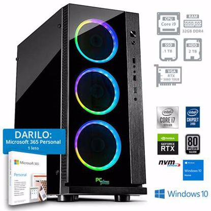 Fotografija izdelka PCPLUS Dream machine i9-10900F 32GB 1TB NVMe SSD 2TB HDD GeForce RTX 3080 10GB Windows 10 Home + darilo: 1 leto Microsoft 365 Personal