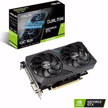 Fotografija izdelka ASUS GeForce GTX 1660 DUAL 6GB DDR6 OC MINI (90YV0DT4-M0NA00) grafična kartica