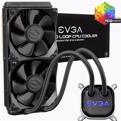 Fotografija izdelka EVGA WATERCOOLER CLC 240 All in One RGB LED vodno hlajenje za procesor
