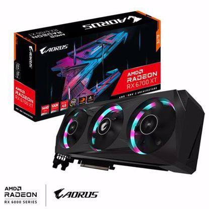 Fotografija izdelka GIGABYTE AORUS Radeon RX 6700 XT ELITE 12GB (GV-R67XTAORUS E-12GD) RGB gaming grafična kartica