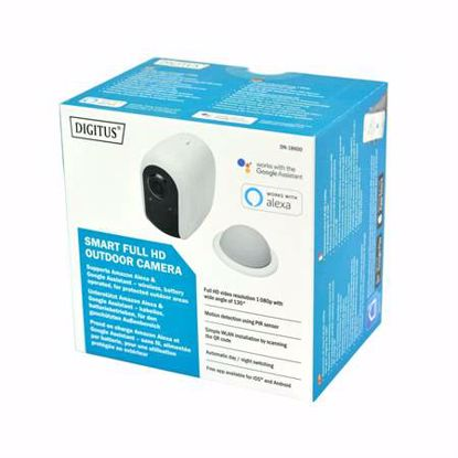 Fotografija izdelka IP Kamera-Digitus 2.0MP DN-18600 SOHO brezžična zunanja na baterije MikroSD