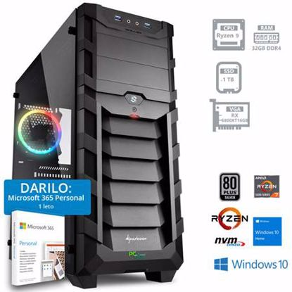 Fotografija izdelka PCPLUS DREAM MACHINE R9 5900X 32GB  1TB SSD RX 6800XT Windows 10 Home + darilo: 1 leto Microsoft 365 Personal