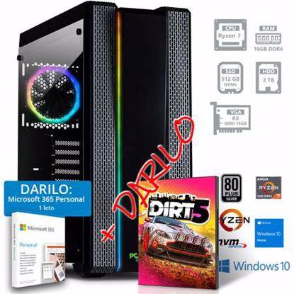 Fotografija izdelka PCPLUS GAMER R7 3700X 16GB 512GB 2TB RX 6800 Windows 10 Home + darilo: 1 leto Microsoft 365 Personal