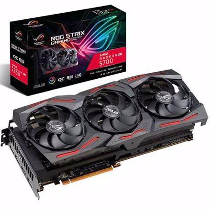 Fotografija izdelka ASUS ROG Strix Radeon RX5700 OC 8GB GDDR5 (ROG-STRIX-RX5700-O8G-GAMING) RGB gaming grafična kartica