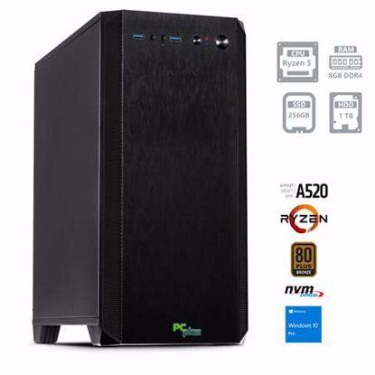 Fotografija izdelka PCPLUS Magic AMD Ryzen 5 4650G 8GB 256GB NVMe SSD 1TB HDD Windows 10 Pro namizni računalnik
