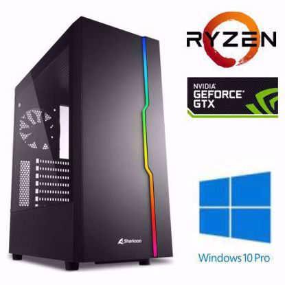 Fotografija izdelka @Gamer Ryzen7 3700X / 16GB / SSD 500GB  NVMe / HDD 3TB / GTX1660Ti-6GB TITANIUM / W10PRO